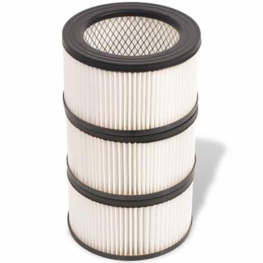 vidaXL HEPA filtrai skirti pelenų siurbliui, 3 vnt., balti ir juodi[5/5]