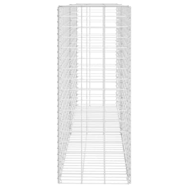"""vidaXL Gabion Basket Galvanised Steel 33.5""""x11.8""""x78.7""""[4/5]"""