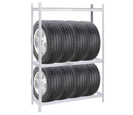 vidaXL Tyre Rack Steel 1752.7lb[2/6]