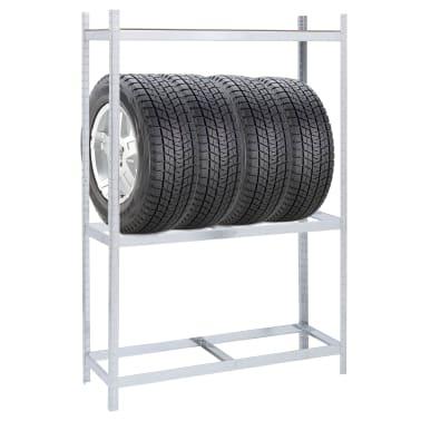 vidaXL Tyre Rack Steel 1752.7lb[3/6]