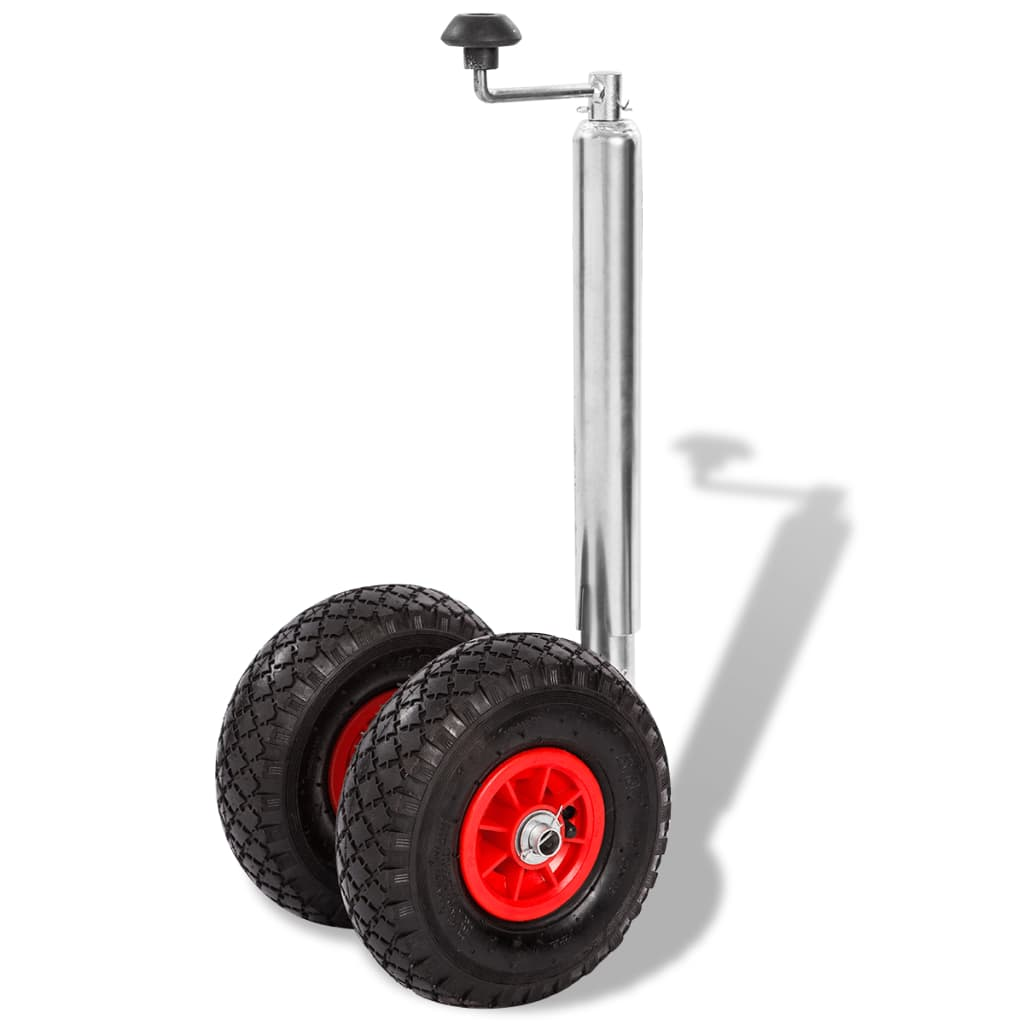 vidaXL Roată manevră pentru remorcă cu 2 anvelope pneumatice, 200 kg vidaxl.ro