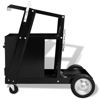 vidaXL Chariot de soudage avec 4 tiroirs Noir[2/4]