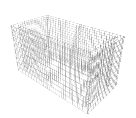 vidaXL Gabionen-Pflanzenkorb Stahl 180×90×100 cm Silbern[2/7]