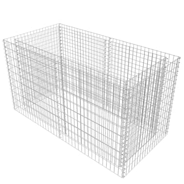 vidaXL Gabiono vazonas, plienas, 180x90x100 cm, sidabro sp.[2/7]