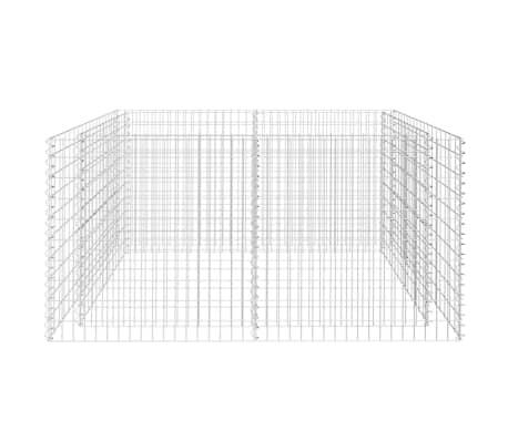 vidaXL Gabiono vazonas, plienas, 180x90x100 cm, sidabro sp.[4/7]