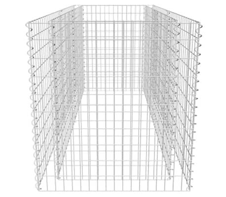 vidaXL Gabionen-Pflanzenkorb Stahl 180×90×100 cm Silbern[5/7]
