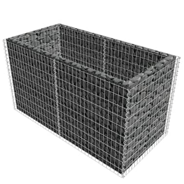 "vidaXL Gabion Planter Steel 71""x35.4""x39.4"" Silver[3/7]"