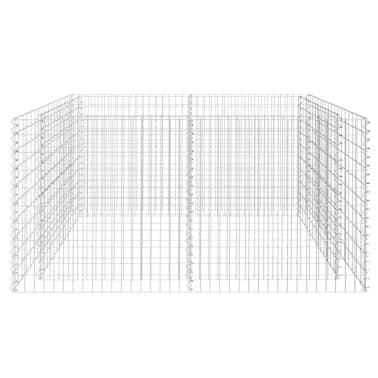vidaXL Gabionen-Pflanzenkorb Stahl 180×90×100 cm Silbern[4/7]