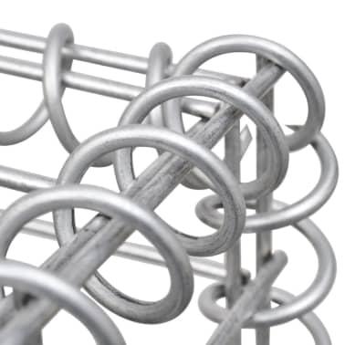 vidaXL Gabionen-Pflanzenkorb Stahl 180×90×100 cm Silbern[6/7]