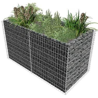 vidaXL Gabionen-Pflanzenkorb Stahl 180×90×100 cm Silbern[1/7]