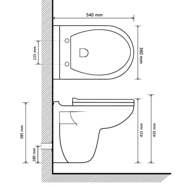 vidaXL Wall-Hung Toilet with Soft-Close Seat Ceramic Dark Brown[9/11]