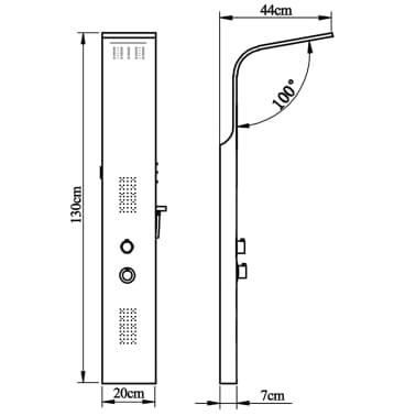 vidaXL Suihkupaneelijärjestelmä ruostumaton teräs kaareva[11/11]