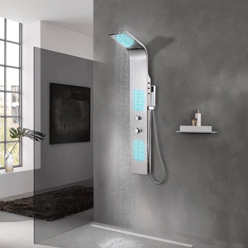 Sprchový panel set z nerezové oceli zaoblený