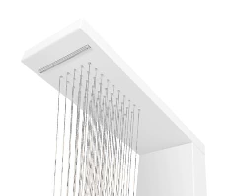 vidaXL Pannello Doccia in Alluminio Bianco Opaco[5/9]