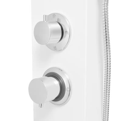 vidaXL Pannello Doccia in Alluminio Bianco Opaco[8/9]