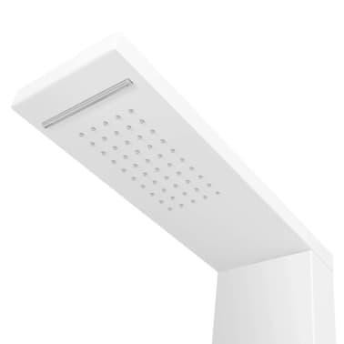 vidaXL Pannello Doccia in Alluminio Bianco Opaco[4/9]
