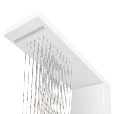 acheter vidaxl syst me de panneau de douche aluminium mat blanc pas cher. Black Bedroom Furniture Sets. Home Design Ideas