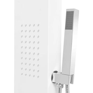 vidaXL Pannello Doccia in Alluminio Bianco Opaco[7/9]