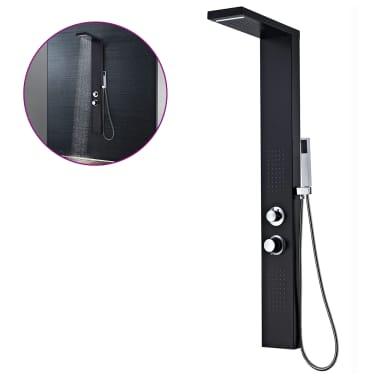 vidaXL Hliníkový sprchový panel, matný čierny[1/9]