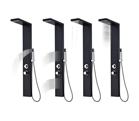 vidaXL Hliníkový sprchový panel, matný čierny[3/9]