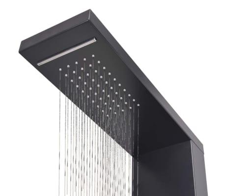 vidaXL Hliníkový sprchový panel, matný čierny[6/9]