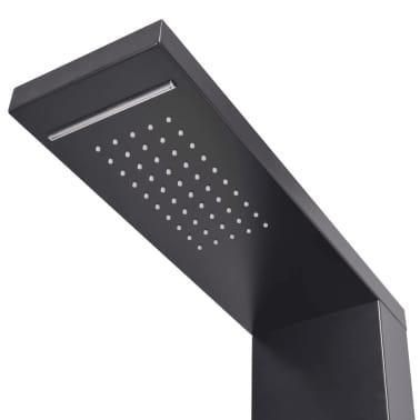 vidaXL Hliníkový sprchový panel, matný čierny[4/9]