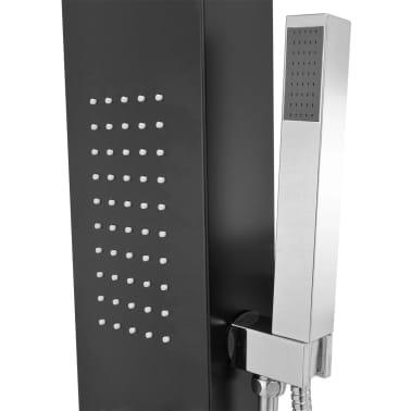 vidaXL Hliníkový sprchový panel, matný čierny[7/9]
