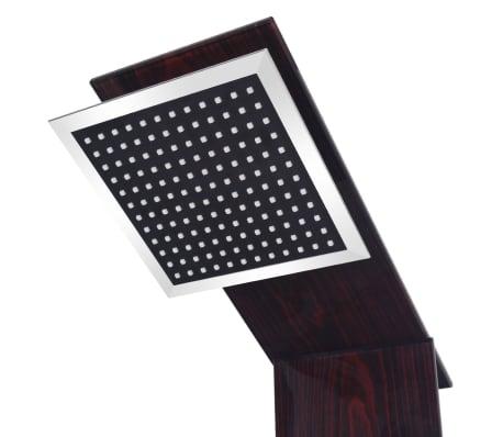 vidaXL Panel prysznicowy, szklany, brązowy[4/8]