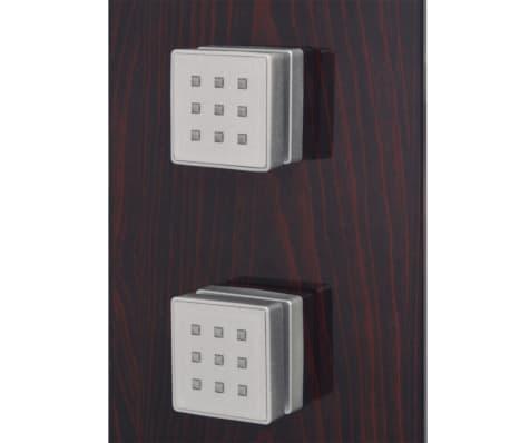 vidaXL Panel prysznicowy, szklany, brązowy[5/8]