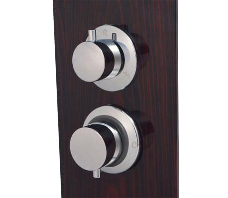 vidaXL Panel prysznicowy, szklany, brązowy[6/8]