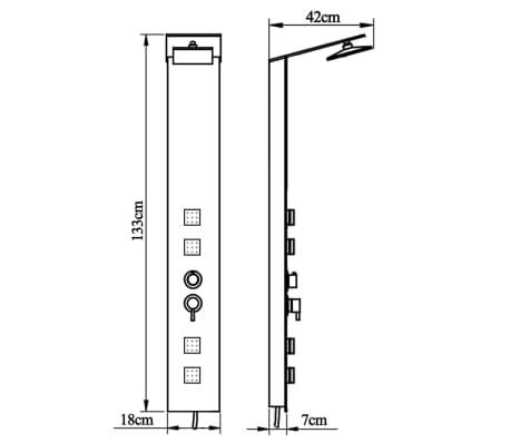 vidaXL Panel prysznicowy, szklany, brązowy[8/8]