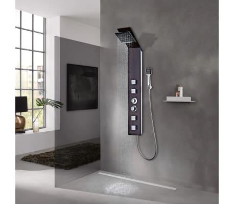 acheter vidaxl syst me de panneau de douche verre marron pas cher. Black Bedroom Furniture Sets. Home Design Ideas