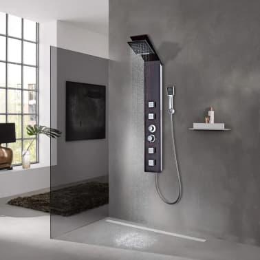 vidaXL Panel prysznicowy, szklany, brązowy[1/8]