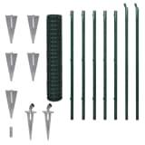 vidaXL Euro Fence Steel 10x1.5 m Green