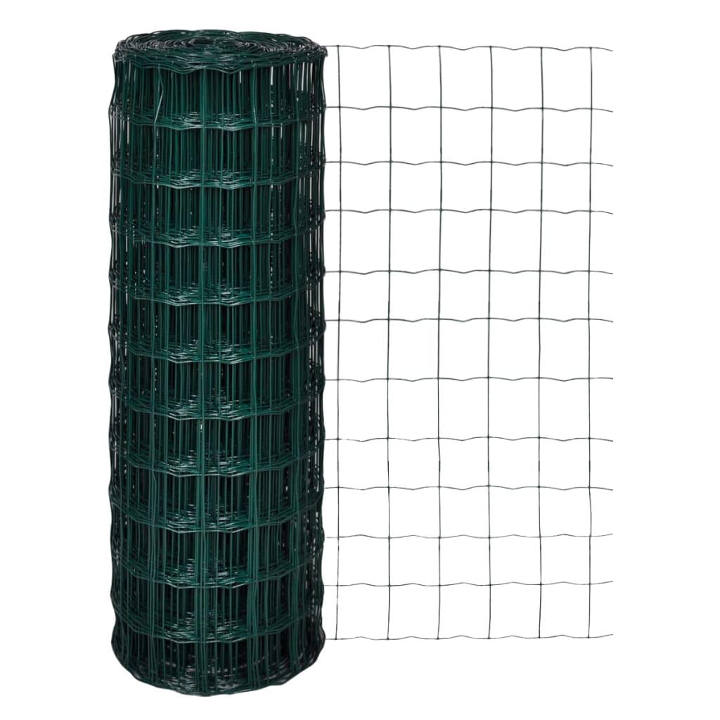 vidaXL Euro gard, verde, 10 x 1,96 m, oțel vidaxl.ro