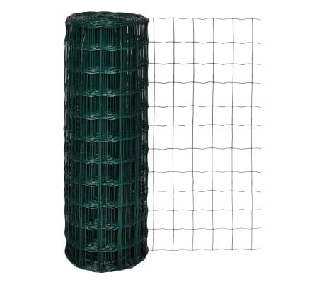 vidaXL Eurofence stål 25x1,7 m grön