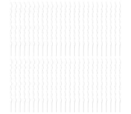 vidaXL Spiralne opore za rastline 50 kosov 170 cm pocinkano jeklo[3/6]
