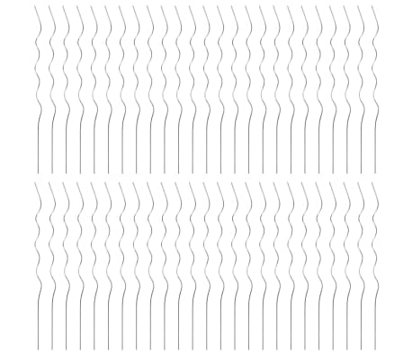 vidaXL Atrama augalams, spiralės forma, 50vnt., 110cm, cinkuot. plien.[3/6]