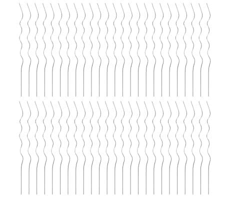 vidaXL Spiralne opore za rastline 50 kosov 110 cm pocinkano jeklo[3/6]
