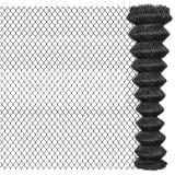 vidaXL Tinklinė tvora, 15x1,95 m, plienas, pilka