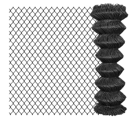 vidaXL Kjedegjerde stål 25x1,25 m grå