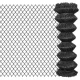 vidaXL Tinklinė tvora, 25x1,25 m, plienas, pilka