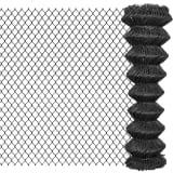 vidaXL Tinklinė tvora, 25x1,5 m, plienas, pilka