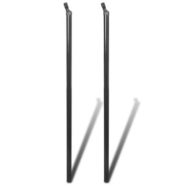 vidaXL balsta stabs stiepļu pinuma žogam, 2 gab., 115 cm, pelēks[1/2]