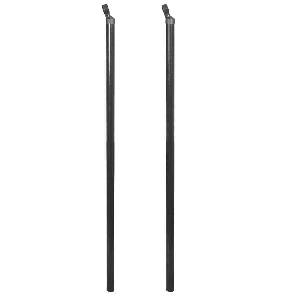 vidaXL Plotové vzpěry pro drátěný plot 2 ks 195 cm