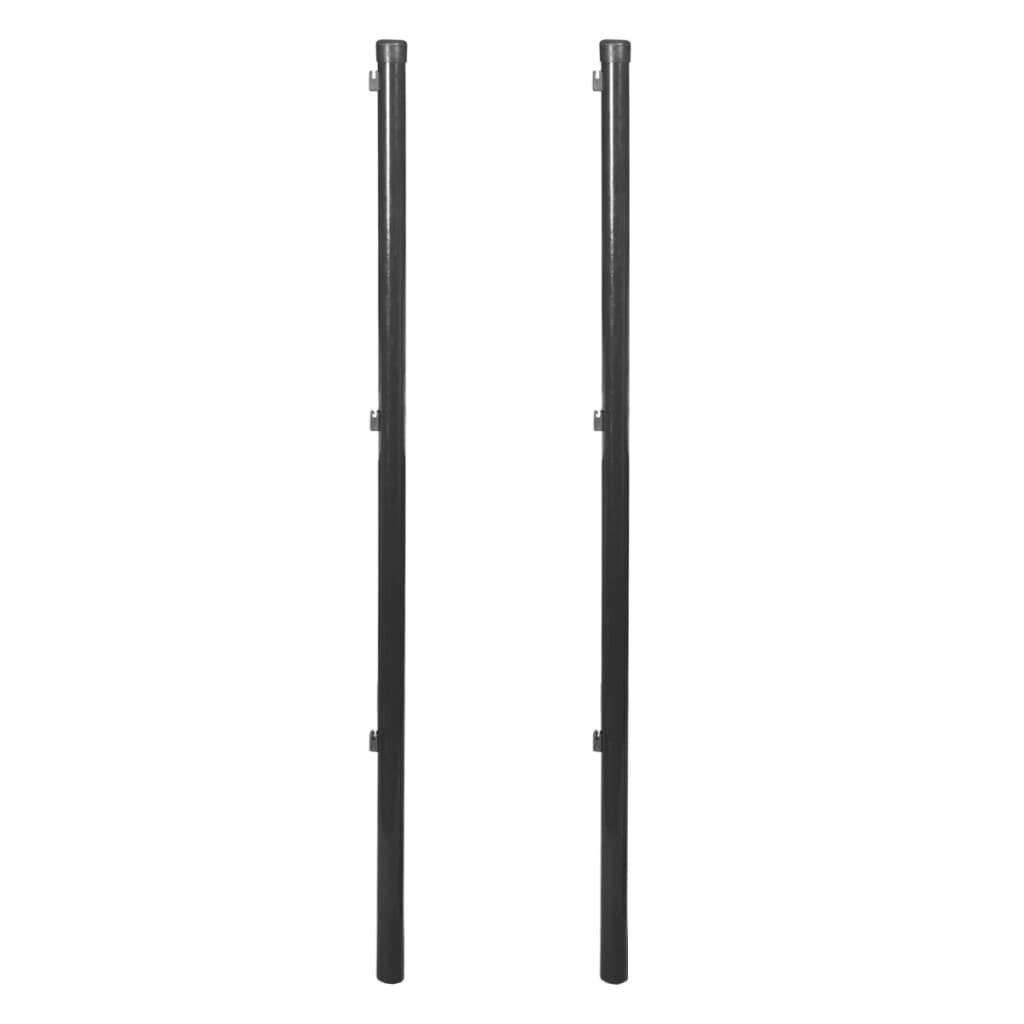vidaXL Plotový sloupek pro drátěný plot 2 ks 150 cm šedá