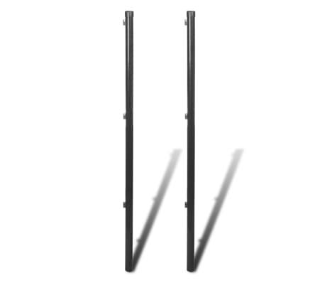 vidaXL Gjerdestolper for nettinggjerde 2 stk 170 cm