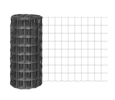 vidaXL Euro gjerde stål 10x0,8 m grå