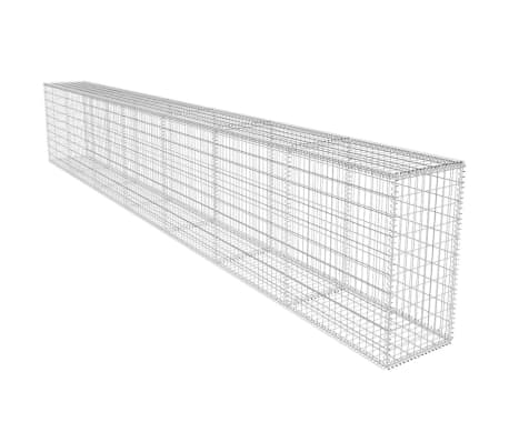 vidaXL Gabion Wall with Cover Galvanised Steel 19.7'x1.6'x3.3'