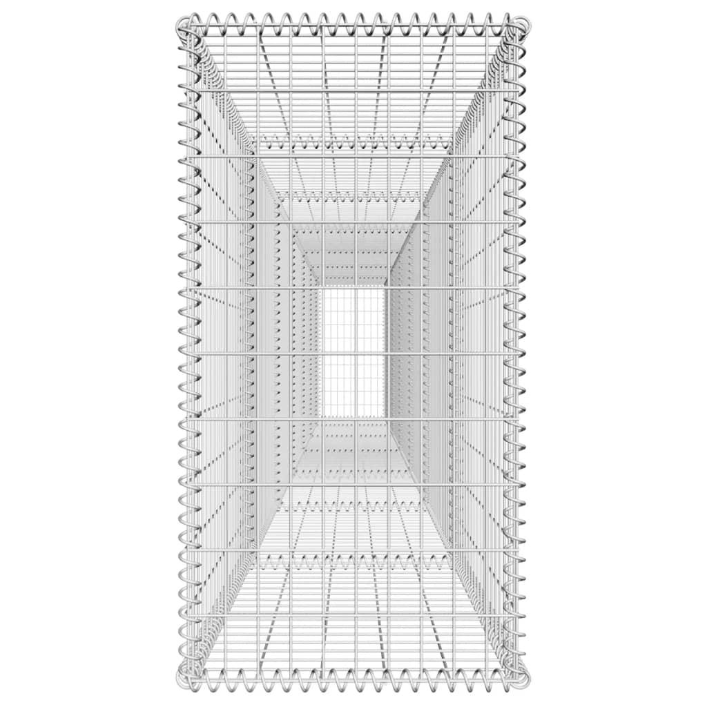 Schanskorfmuur met deksel 600x50x100 cm gegalvaniseerd staal